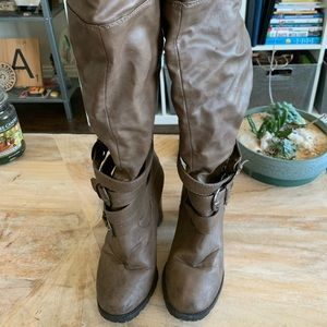 Madden Girl Brown knee high boots for wide calfs